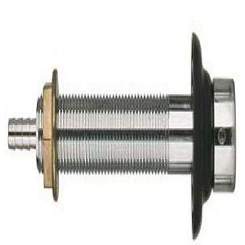 Bev Rite 4-1/2 Inch Long Beer Nipple Shank Assembly, Chrome Plated, 3/16 Inch ID Bore