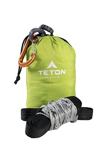 TETON Sports Rover Rope Tree Sling; Quick and Easy Setup; Hammock Straps Fit All Backpacking Hammocks; Heavy-Duty, Looped Tree Sling Means No Messing with Knots While You're Camping ()