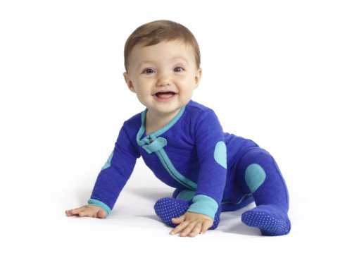 Cotton Quilted Footie Pajama, 12-18 months, Peacock ()