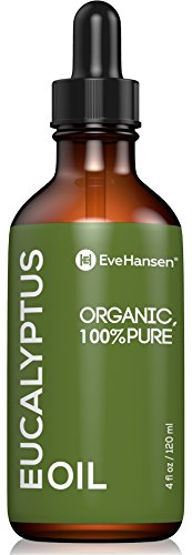 USDA Certified Organic Eucalyptus Essential Oil - Topical and Aromatherapy Essential Oil for Respiratory, Congestion and Sinus Relief - Treat Burns, Wounds and Minor Cuts - 4 Ounces - Eve Hansen by Eve Hansen