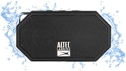 Altec Lansing Mini H2O - Wireless, Bluetooth, Waterproof Speaker, Floating, IP67, Portable Speaker, Strong Bass, Rich Stereo System, Microphone, 30 toes Range, Lightweight, 6-Hour Battery, (Black)