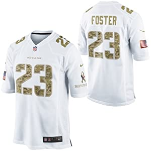 ... cheapest nike nfl youth houston texans arian foster 23 game military  jersey white medium 10 12 181211c7a