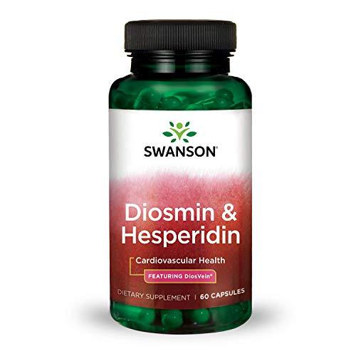 - Swanson Diosmin Hesperidin Cardiovascular Support Blood Health Vascular Wall Integrity and Tone Antioxidant Activity Supplement 500 mg Diosmin from DiosVein® 100 mg Hesperidin 60 Capsules