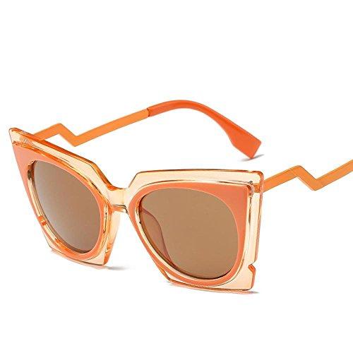 Aoligei Lunettes de soleil fashion tendance minimaliste de la mode rétro Europe et les États-Unis vent réflectorisé lunettes de soleil duzfsv38eS