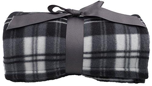 Fleece Tie Throw - Simplicity Super Soft Warm Plaid Patterned Polar Fleece Blanket Throw 50