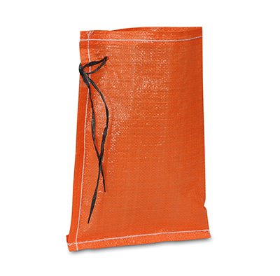 18'' x 30'' Woven Polypropylene Sandbags with Attached Tie-String - Orange (100 Bags) - AB-30-2-185 by Miller Supply Inc