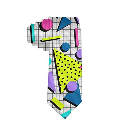 Casual Mens Necktie Suit Accessories Tie for Conference, Party, Wedding, 80s 90s Fashion Style
