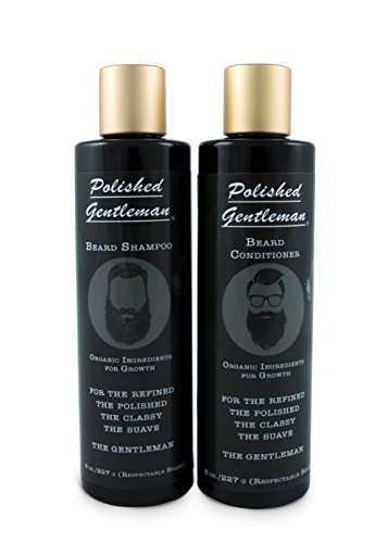 Price comparison product image Polished Gentleman Beard Growth and Thickening Shampoo and Conditioner with Organic Beard Oil