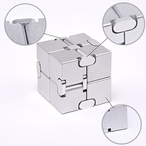 JOEYANK New Version Fidget Finger Toy – Infinity Cube,Fidget cube for Stress and Anxiety relief/ADHD,Ultra Durable