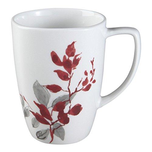 Corelle Square Kyoto Leaves 12 Ounce Porcelain Mug (Set of - Oz Corelle Square Mug 12
