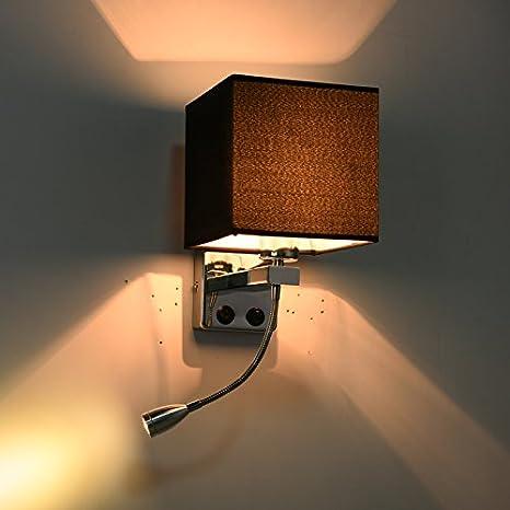 Lampada da parete a parete moderni applique con interruttore