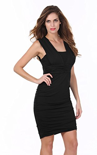 ANGVNS Ruched Waisted Evening Bodycon