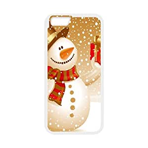 Snowman iPhone 6 Plus 5.5 Inch Cell Phone Case White kkam