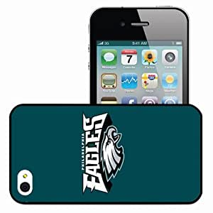 Personalized iPhone 4 4S Cell phone Case/Cover Skin Nfl Philadelphia Eagles 6 Sport Black