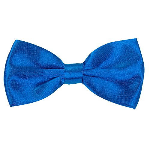 Boys Pre tied Bow ties - Children Kids Adjustable Solid Color Wedding Party Satin Bowties Royal blue ()