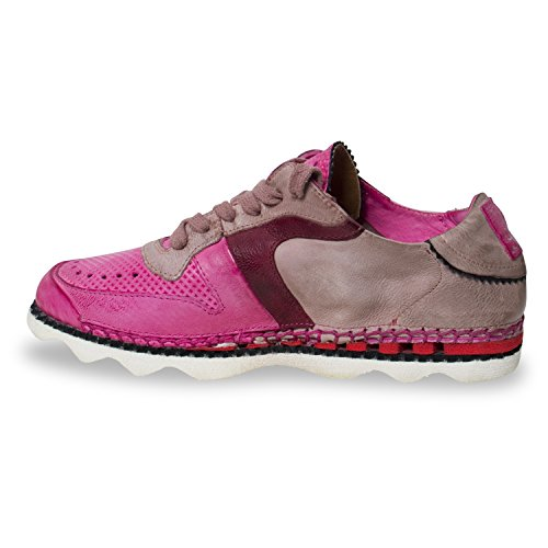 A.S.98 - Zapatillas de Piel para mujer rosa Pink Grau