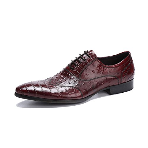 Oxford Shoes Maschi Estate Moda Casuale Indossabile Comodo Elegante All'aperto Traspirante, Scarpe di Cuoio Brown