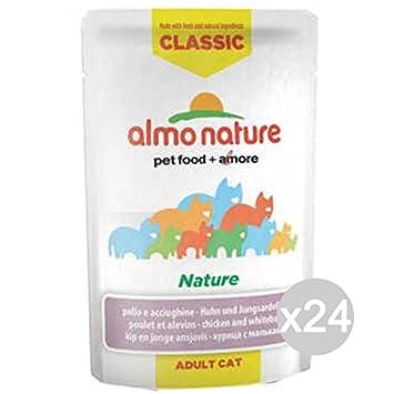 Almo nature Juego 24 Gato 5801 Sobres 55 Classic Pollo acciug Comida para Gatos: Amazon.es: Productos para mascotas