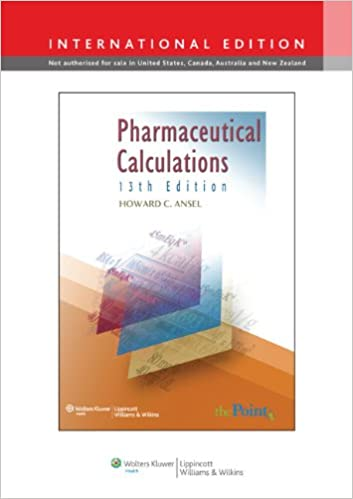Book Pharmaceutical Calculations