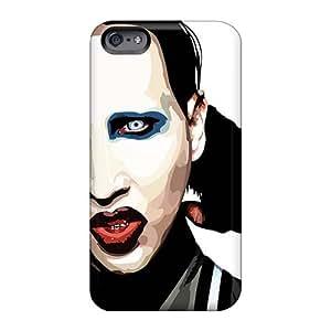 Iphone 6plus PaB18192XEaZ Provide Private Custom Lifelike Marilyn Manson Band Series Protective Hard Cell-phone Cases -AlainTanielian