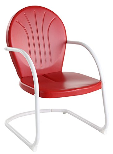 Crosley Furniture Griffith Metal Outdoor Chair Red Amazon Ca