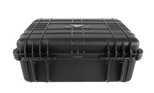 CASEMATIX Waterproof Projector Travel Case For DBPOWER T22 HD Video Projector 2400 Lumens , Remote , HDMI Cable , AV Cable , Power Supply and Accessories by CASEMATIX (Image #4)