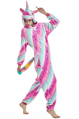 XVOVX Adults Children Unicorn Animal Cosplay Costume Pajamas Onesies Jumpsuit