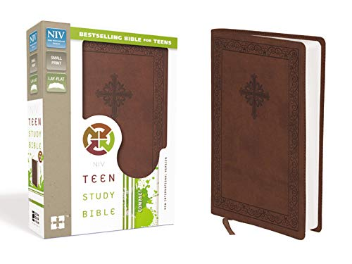 NIV, Teen Study Bible, Compact, Leathersoft, Brown (Best Bible For Teens)