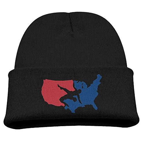 Banana King USA Wrestling Logo Baby Beanie Hat Toddler Winter Warm Knit Woolen Watch Cap for Kids]()