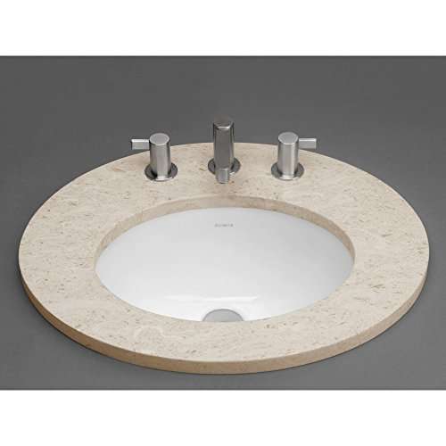 Oval Ceramic Undermount Bathroom Sink with Overflow (Oval Ronbow Ceramic)
