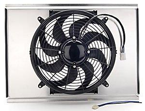JEGS 52060K Aluminum Fan Shroud Kit Includes