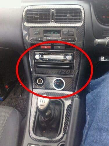 FidgetKute Carbon Radio Surround Replacement for 95-98 Nissan S14 S14A Silvia 200SX 240SX