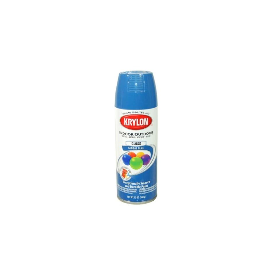 Krylon Global Blue Spray Paint 5 Ball Decorator Aerosol