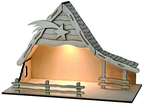 Crèche de Noël avec éclairage solaire