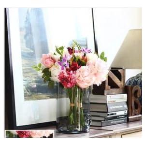 FYYDNZA Wedding Flower Classic Wedding Flower Flower Clove Peony Bouquet Emulation Flower Silk Flower,Medium Soot Whole Flower Suit 78