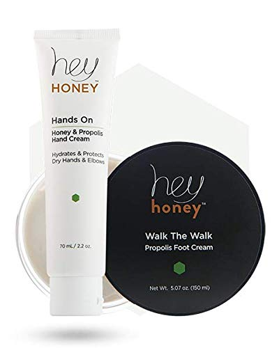 HANDS & FEET DUET - Honey and Propolis Hand and Foot Care Set - WALK THE WALK & HANDS ON - Hey Honey Skin Care