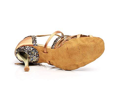 tango sandales Femmes Pour Aiguilles Salsa Chaussures samba modernes Satin À Yingsssq De En Hauts chacha Talons jazz Danse Tn8AWOWw