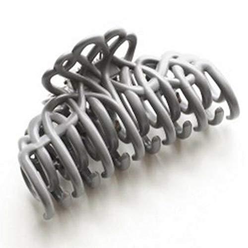 Women Big Hair Clips Claw Barrette Crab Hair Clamp Hair Clip Fashion Accessories (StyleID - Grey 2#)