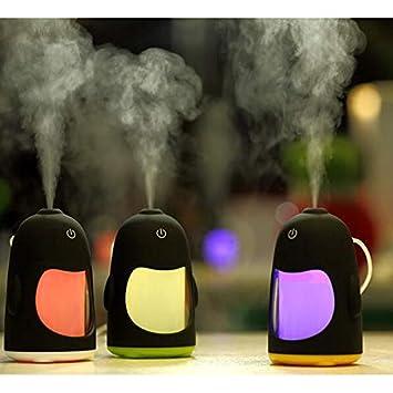 Luce Notturna del Pinguino umidificatore Ambiente purificatore Aria casa diffusore di aromi,Verde Smotly Umidificatore,diffusore di Oli Essenziali