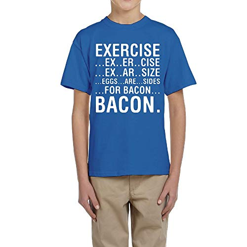 LingBer Youth Exercise Eggs are Sides for Bacon Kids Girls Boys T-Shirt