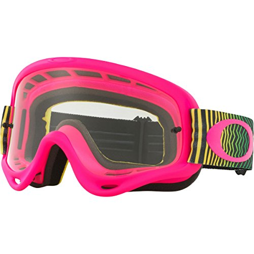 Oakley O Frame MX Shockwave PYG with Clear unisex-adult Goggles (Pink, Medium), 1 - Goggles Pink Oakley