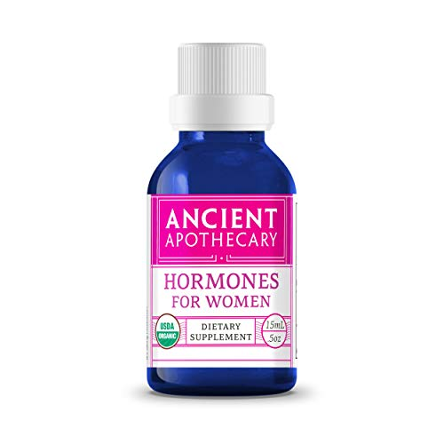 Hormones for Women Organic Essential Essential Oil from Ancient Apothecary, 15 mL - 100% Pure and Therapeutic Grade Blend of Clary Sage, Ylang Ylang, Thyme and Geranium Rose ()