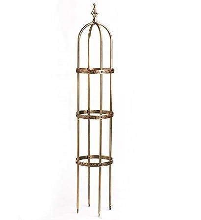 Amazon.com : 5u0027 Powder Coated Steel Garden Obelisk, In Antique Copper :  Patio Umbrella Bases : Garden U0026 Outdoor