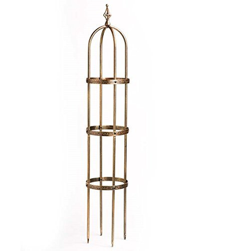5' Powder-Coated Steel Garden Obelisk, in Antique Copper