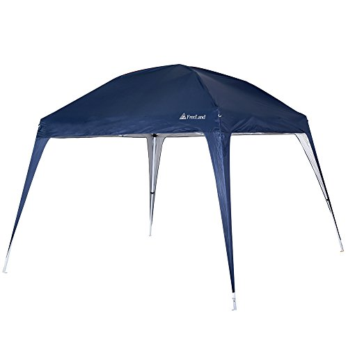 Freeland Pop up Canopy Tent for Camping, Beach Shade, 10 x 10 ft Base, 8 x 8 ft Canopy, Navy Blue
