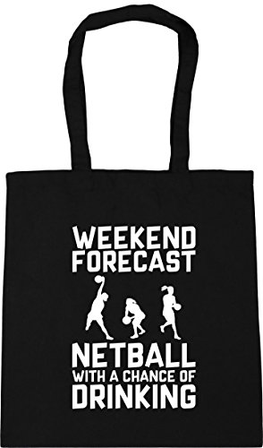 of x38cm Netball HippoWarehouse 10 Drinking Gym with a Forecast Black Bag Tote Weekend litres Shopping Beach 42cm Chance qfCY4H