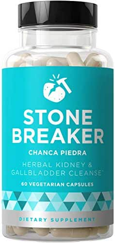 Stone Breaker Chanca Piedra – Natural Kidney Cleanse & Gallbladder Formula – Detoxify Urinary Tract, Flush Impurities, Clear System – Hydrangea & Celery Seed Extract – 60 Vegetarian Soft Capsules