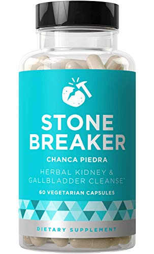 Stone Breaker Chanca Piedra - Natural Kidney Cleanse & Gallbladder Formula - Detoxify Urinary Tract, Flush Impurities, Clear System - Hydrangea & Celery Seed Extract - 60 Vegetarian Soft Capsules (Best Way To Pass Kidney Stones Naturally)