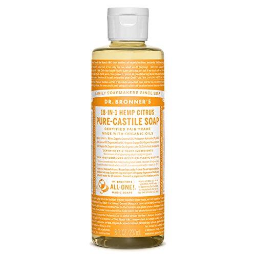 Dr. Bronner's Magic Soaps 18-in-1 Hemp Pure Castile Soaps Citrus Orange 8 fl. oz. -