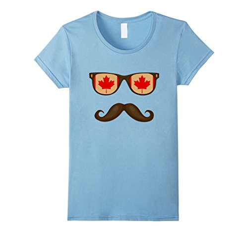 Womens Canadian Flag Sunglasses Moustaches T-shirt Canada Tee Large Baby - Sunglasses Baby Canada